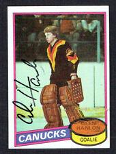 Glen Hanlon #141 signed autograph auto 1980-81 Topps Hockey Trading Card