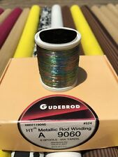 Gudebrod Ht Metallic Fishing Rod Winding thread Size A, Color Rainbow 9060.