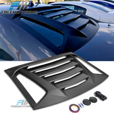 Fits 11-18 Dodge Charger Ikon V2 Style Rear Window Louvers Unpainted - ABS