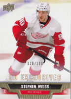 13-14 Upper Deck Stephen Weiss /100 UD Exclusives Red Wings 2013