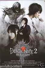 """DEATH NOTE 2-THE LAST NAME"" MOVIE POSTER FROM ASIA V.2-Supernatural Japan Movie"