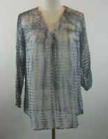 NWT Soft Surroundings Women's S Blue Serenity Tunic Top Blouse Tie Dye