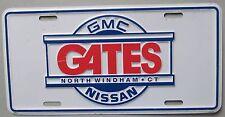Connecticut 1980's GATES GMC NISSAN DEALERSHIP BOOSTER License Plate