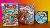 3 Game PC Lot Roller Coaster Tycoon 1 + 3 + Mall Tycoon - Tested & Working