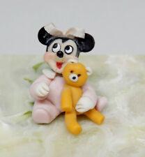 Vintage Clay Baby Minnie Mouse Nursery Toy Artisan Dollhouse Miniature 1:12