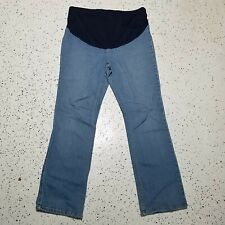 New Recruit Maternity Vintage Denim Blue Jeans ~ Sz M ~ High Waist ~ Straight
