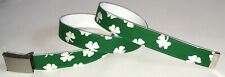 Irish BELT Buckle 4 Four Leaf Clover Green St. Patricks Day Ireland Luck Gift 13