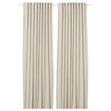 """New ORDENSFLY Curtains, 1 pair, white/beige, 57x98 """""""