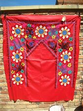 Vintage 100% Suzani broderie Wall Hanging Tapestry Ouzbek Handmade Grand D