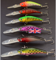 6 rattling spinning lures pike sea bass perch Fishing Lures hooks spoons  #23