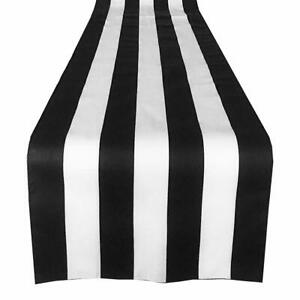 Poly Cotton 2 Inch Striped Table Runner for Home Decor/Special Events