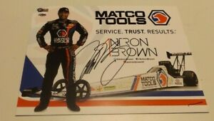 SIGNED! ANTON BROWN MATCO TOOLS TOP FUEL DRAGSTER HANDOUT/POSTCARD!