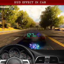 Car Truck 3.5'' HUD HD Head Up Display Speed Alarm Compass Direction Car-Carger