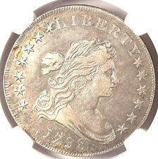 1798 $1 Large Eagle VF35 NGC-10 Arrows. B-13, BB-108, R.2-DRAPED BUST