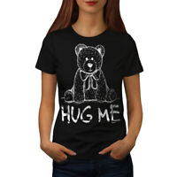 Wellcoda Hug Me Teddy Bear Womens T-shirt, Nice & Casual Design Printed Tee