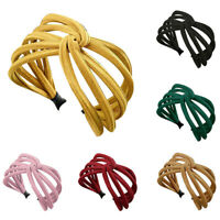 Women Headband Twist Hairband Bow Knot Cross Tie Cloth Headwrap Hair Band H BDA