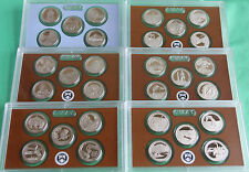 2010-2015 US MINT AMERICA the BEAUTIFUL STATE PARK QUARTER DCAM PROOF SETS (6)
