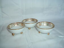 Vintage Hand Painted Nippon Morimura Floral Nut Bowls Dishes Gold Moriage