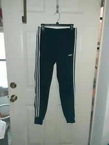 Women's Adidas Black Poly Track Pants Joggers. Size: Small
