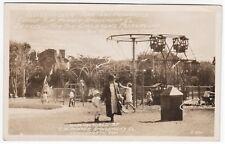RARE Real Photo Children Park San Francisco 1920 CW Parker Ferris Wheel Slide ca