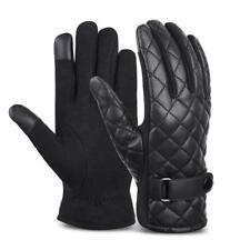 Vbiger Winter Warp-Gestrickte Velvet  Handschuhe  Schwarz