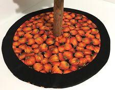 """Autumn Reversible Tree Skirt – 19.5"""" - Fall Pumpkin Patch - Custom Made"""