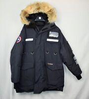 Canada Goose Resolute Parka Mens XL Navy Blue Coat Fur Trim Down (Fit's Large)