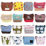 Fashion Women Canvas Small Wallet Card Holder Zip Coin Purse Clutch Handbag