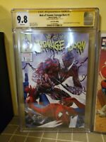 WEB OF VENOM CARNAGE BORN #1 CGC SS 9.8 MIKE MAYHEW VARIANT SPIDERMAN 316 HOMAGE