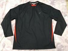 Nike Men's Sz Xxl 2Xl Long Sleeve Jersey Style Charcoal Gray w Orange T-Shirt!