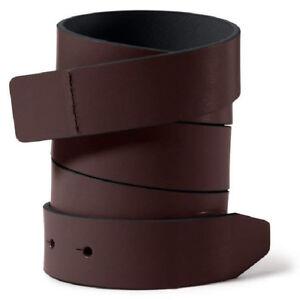 Oakley Slim Leather Belt Strap - Earth Brown