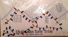"1 Packet Department 56 Village Christmas Eave Trim 24"" Bulb Garland Mini Lights"