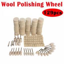 129pcs  Wool Wheel Felt Polishing Buff Buffing Buffer Set Dremel Rotary Bit Tool