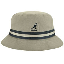Kangol Men's Stripe Lahinch Summer Bucket Hat K4012SP Grey Sizes: S - XL