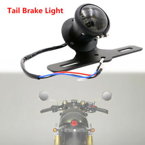 Motorcycle Bikes Aluminum Alloy Retro LED Rear Tail Brake Light Lamp w/ Bracket