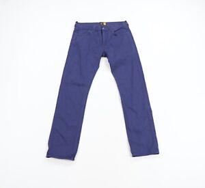 J Crew Mens Size 31x32 484 Slim Fit Straight Leg Denim Jeans Pants Blue Cotton