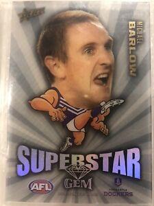 2011 Select AFL Champions Superstar Gem MG6 Michael Barlow Fremantle