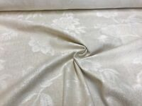 LAURA ASHLEY ASHINO CREAM CHENILLE UPHOLSTERY FABRIC 2 METRES