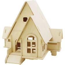 3D Rompecabezas de Madera Modelo Casa Hogar Puzzle Niños Adultos Craft Regalo
