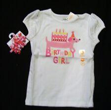 NWT Gymboree Birthday Shop Girl Puppy Dog Top Shirt & Hair Curlies New Set 3T