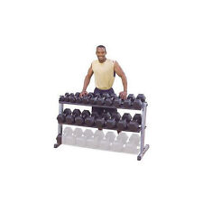 Body-Solid 62 inches Wide 2 Tier Dumbbell Storage Rack Holder