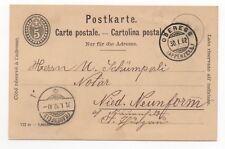 1902 SWITZERLAND Cover OBEREGG to NIEDERNEUNFORN Stationery Postcard FRAUENFELD