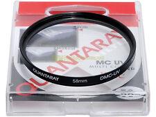 58mm. filtro DMC UV Quantaray. Filtro ultravioletto. UV filter.