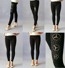 Leggins Women's Pants Black Diamante' Stylish Motif Design One size;6-14 BNWT