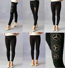 NEW Women Black Leggings Pants Socks One size fits 6 8 10 12 14 $5 Every