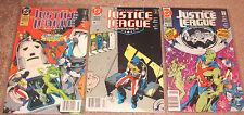 Justice League America #48 #49 and #50 (DC Comics, 91) (VF)      [LOT OF THREE]