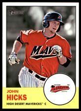 2012 Topps Heritage Minor League John Hicks High Desert Mavericks #74