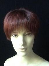 Perruque courte auburn cheveux naturels