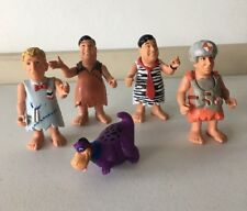 The Flintstones Mattel 1993 Set Of 5 Figures Pose able Fred Barney Dino