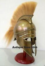 Medieval Greek Corinthian Helmet Plume Armor Knight Spartan Roman Crusader Gift